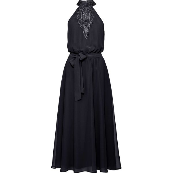 e8079ce0e Sukienka z koronkową wstawką bonprix czarny - Czarne sukienki ...