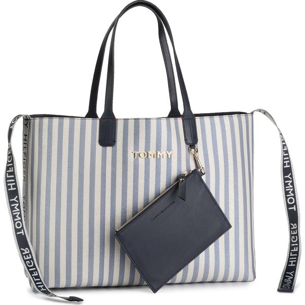 9f942649f Torebka TOMMY HILFIGER - Iconic Tommy Tote Glitter AW0AW06910 901 ...