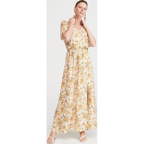 2d68f91c045eda Długa sukienka we wzory - Wielobarwny - Sukienki damskie Reserved ...