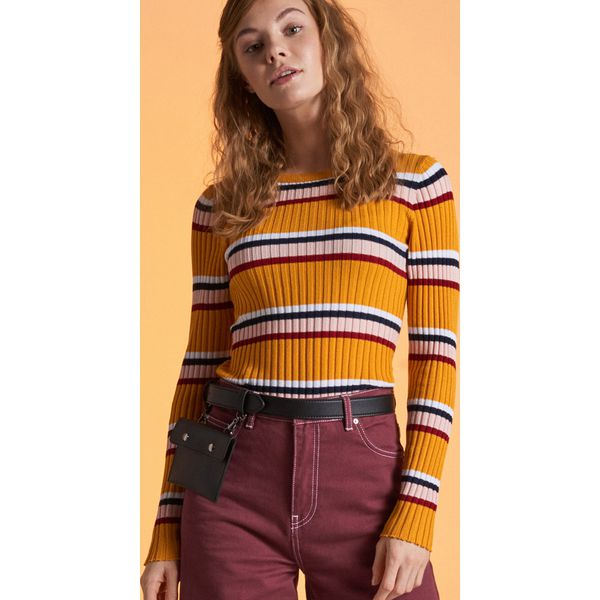 de541204d7f0 Sweter w paski - Żółty - Swetry klasyczne damskie marki Cropp. Za ...