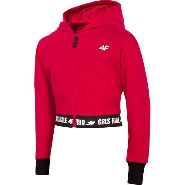 bdfdf46511e7 Bluza dziewczęca (122-164) JBLD205 - czerwony - Bluzy z kapturem ...