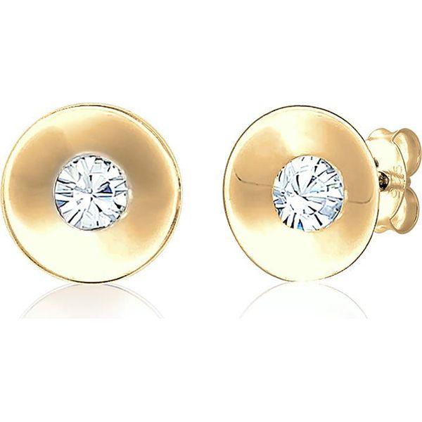 0867862ed332 Pozłacane kolczyki-wkrętki z kryształkami Swarovski - Żółte ...