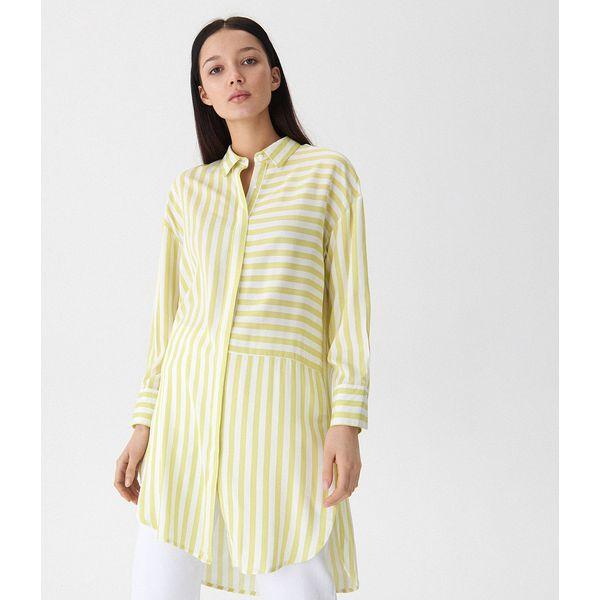 5d04841de7b01a Długa koszula w paski - Zielony - Koszule damskie House. W ...
