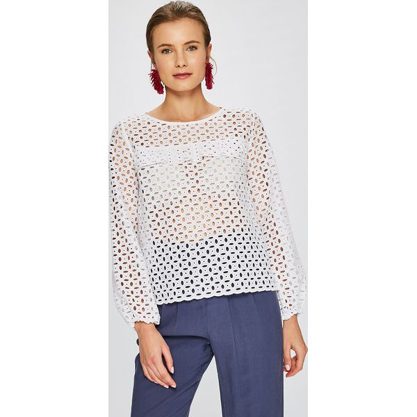 1682955818ce62 Answear - Bluzka Stripes Vibes - Białe bluzki damskie ANSWEAR, l ...