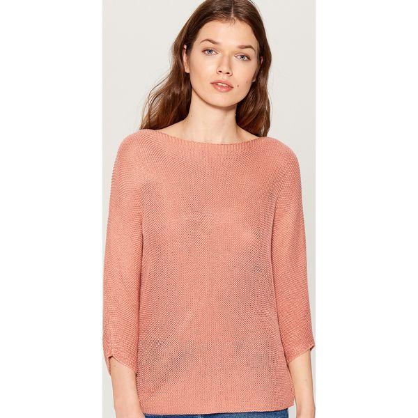 a870ef41 Sweter z rękawami 3/4 - Różowy