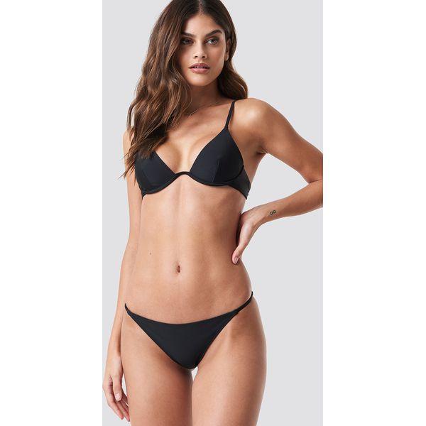 34ce295691d252 NA-KD Swimwear Dół bikini z cienkim paseczkiem - Black - Bikini ...