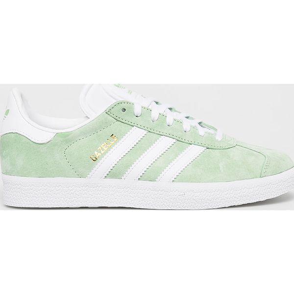 Zielone Buty adidas Originals Gazelle M BB5477 | Sportowe