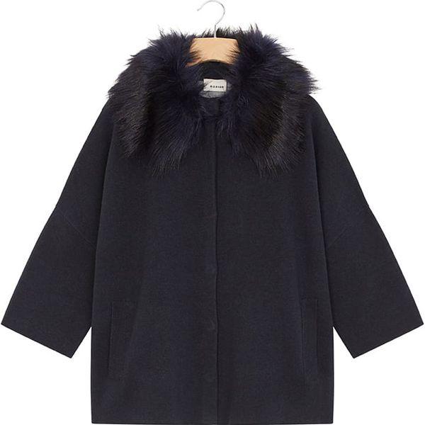 22277b5fcbe0 Wełniany płaszcz w kolorze czarnym - Płaszcze damskie marki Rodier ...