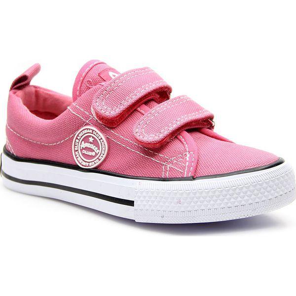 748ed769 Tenisówki dziewczęce na rzepy różowe American Club - jasny róż ...
