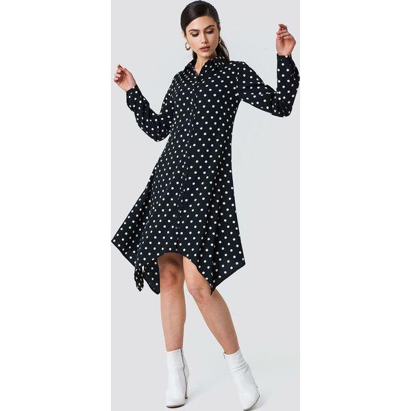 792ad19256 NA-KD Asymetryczna sukienka koszulowa midi - Black