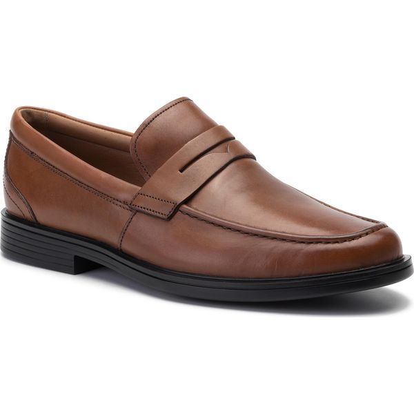 2e7ad53f Półbuty CLARKS - Un Aldric Step 261401408 Tan Leather - Buty ...