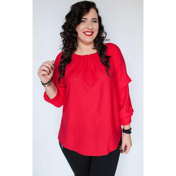 77345f7af671d7 Czerwona bluzka Angela hiszpanka MODA XXL - Bluzki damskie Moda Size ...