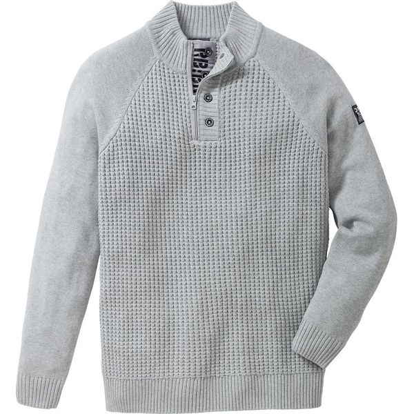 8e14c75fcd88 Sweter ze stójką Regular Fit bonprix jasnoszary melanż - Swetry męskie  marki bonprix. Za 79.99 zł. - Swetry męskie - Bluzy i swetry męskie - Odzież  męska ...
