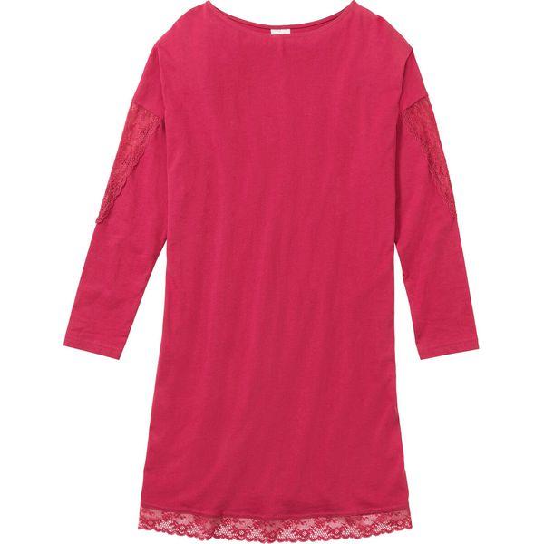 Koszula nocna z koronką bonprix jeżynowy