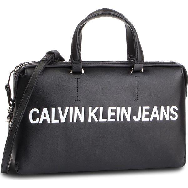 7e5f5be37b000 Torebka CALVIN KLEIN JEANS - Sculpted Logo Satchel K60K605244 Black ...