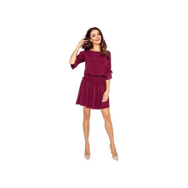 ea4ca98839 Sukienka koktajlowa z rozciętymi rękawami - Sukienki damskie marki ...