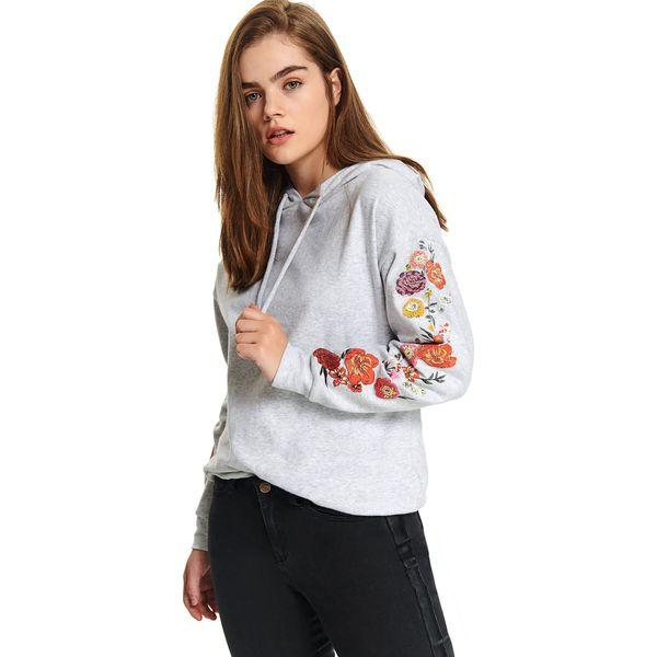 ciepla bluza z kapturem damska