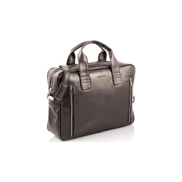 ccce241f5cefe Ciemno brązowa skórzana torba na ramię b02, Kolor wnętrza: Czarny ...