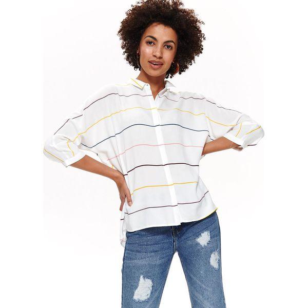 Koszule Damskie Luźna Koszula W Top Kolorowe Paski Secret Marki b7vYf6gImy