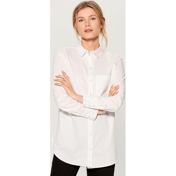 6ecf57f3b05734 Długa koszula oversize - Biały - Koszule damskie Mohito. Za 119.99 ...