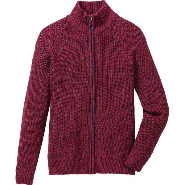 c4ae363eab71 Sweter rozpinany Regular Fit bonprix ciemnoczerwono-ciemnoniebieski melanż  - Kardigany męskie marki bonprix. Za 109.99 zł. - Kardigany męskie - Bluzy  i ...
