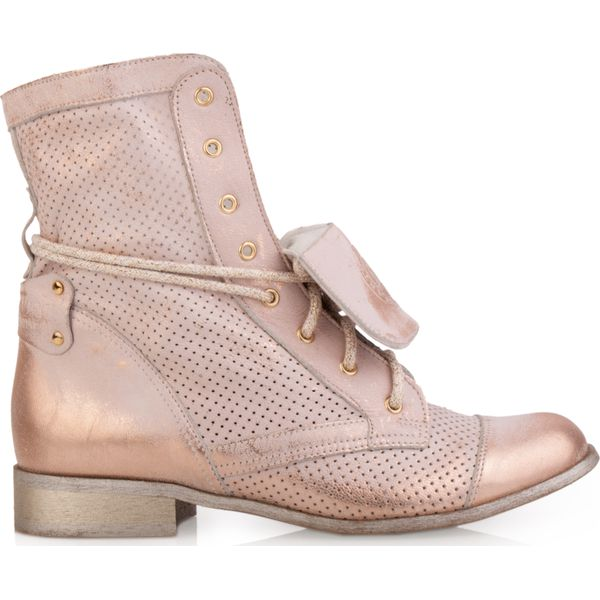 W Ultra Botki różowe złote wiosenne ażurowe - Botki damskie marki Arturo EF98