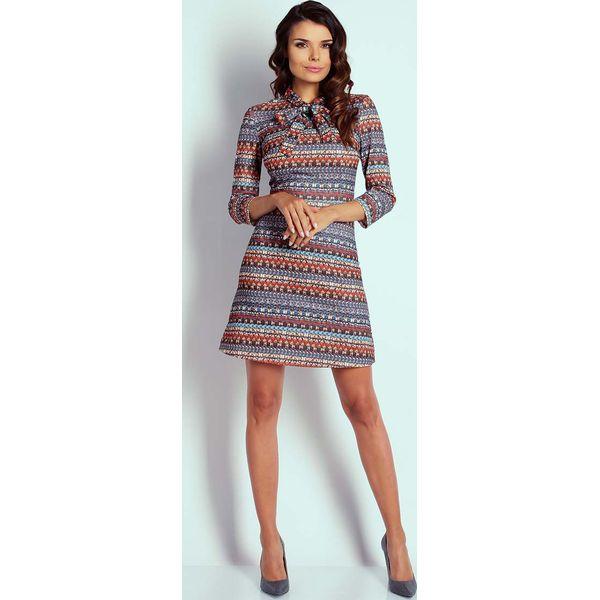 2392a615fe Boho Wizytowa Taliowana Sukienka z Wiązaniem - Sukienki damskie ...