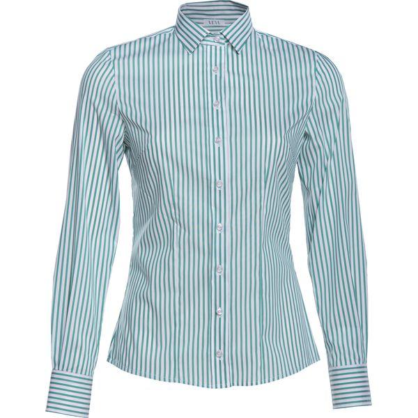 fe4e7ee5 Damska Koszula Klasyczna w Paski Zielona