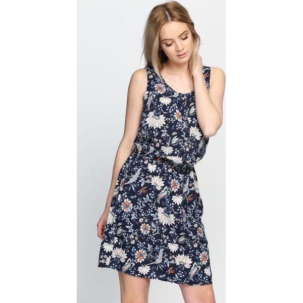 c8b7bcaed0 Granatowa Sukienka Free Fall In - Niebieskie sukienki damskie marki ...