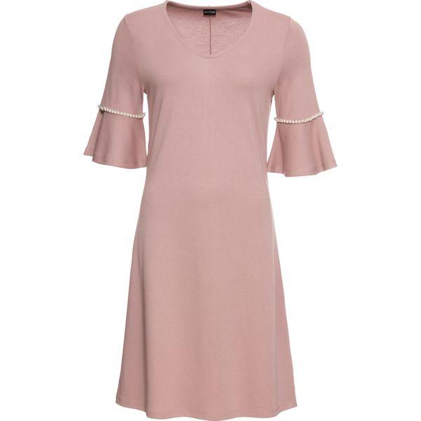 0de544919c Sukienka z perełkami bonprix dymny różowy - Sukienki damskie marki ...