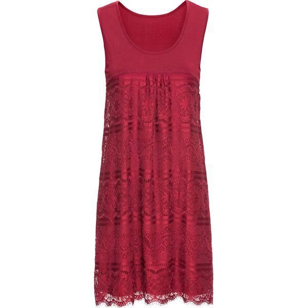 de73848b13 Sukienka shirtowa bonprix ciemnoczerwony - Sukienki damskie marki ...