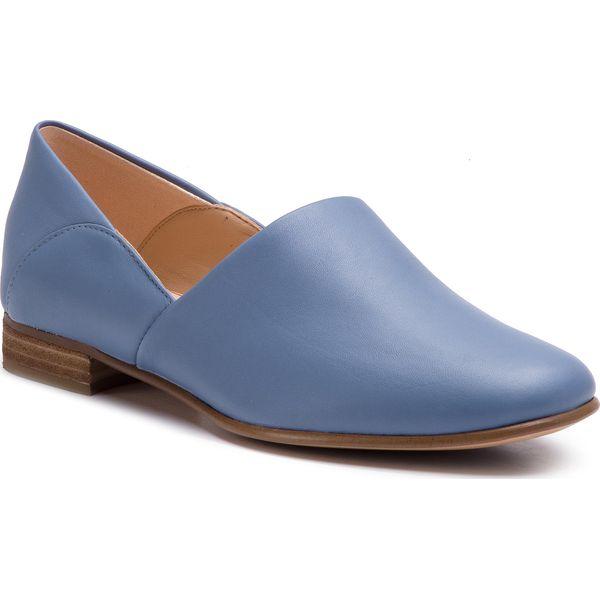 73fdba4f0 Półbuty CLARKS - Pure Tone 261396354 Mid Blue Leather - Półbuty ...