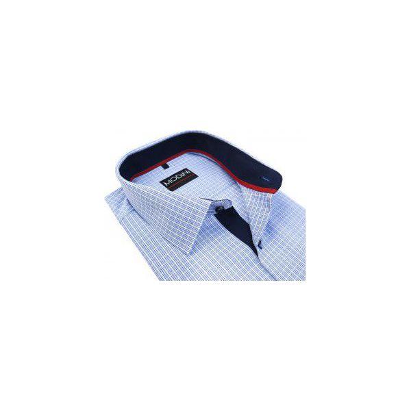99f1f16eaf4194 Koszula w niebieską kratkę MA1 - Koszule męskie marki Modini Moda ...