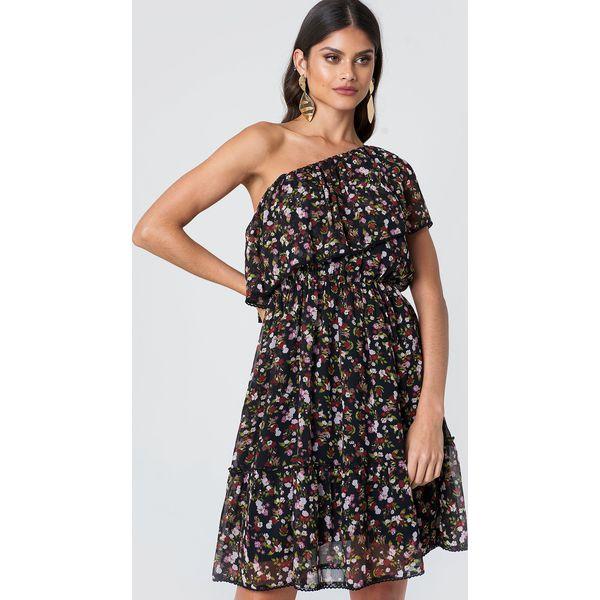 2f7ec5624f NA-KD Boho Sukienka z falbanką na jedno ramię - Multicolor ...