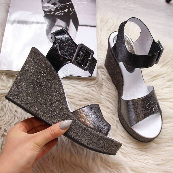 Sandały damskie na słupku stalowe Vinceza