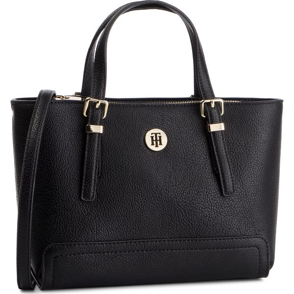 ade942e1f240f Torebka TOMMY HILFIGER - Honey Finegrain Small Tote AW0AW06631 002 ...