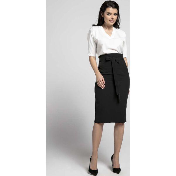 Modish Czarna Elegancka Ołówkowa Spódnica z Ozdobną Kokardą - Spódniczki LT29