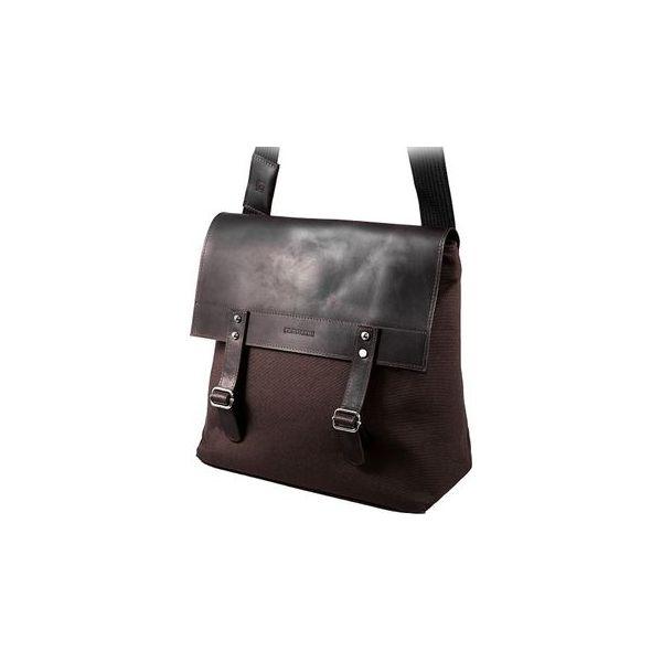 347c23fa69af0 Stylowa torba na ramię z klapą brodrene ml18 brąz + ciemny brąz ...