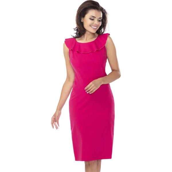 df0d15fa53 Sukienka w kolorze fuksji - Czerwone sukienki damskie marki Ryłko by ...