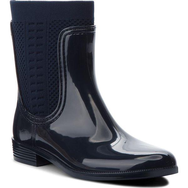 5e680ff129b31 Kalosze TOMMY HILFIGER - Tommy Knit Rain Boot FW0FW02940 Midnight ...