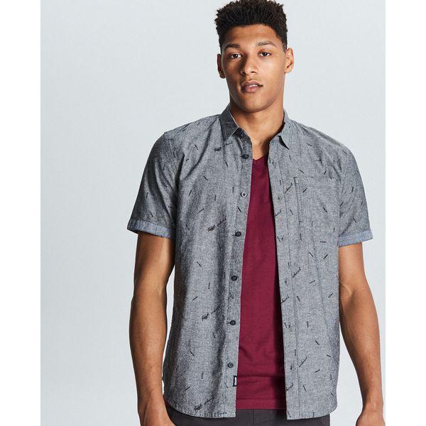 ece6aa732fdb6c Koszula z krótkim rękawem - Szary - Koszule męskie marki Cropp. Za 69.99  zł. - Koszule męskie - Odzież męska - Mężczyzna - Sklep Super Express