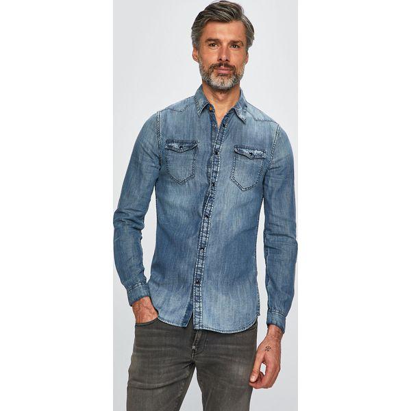 58db6ee52634da Guess Jeans - Koszula jeansowa - Niebieskie koszule męskie Guess ...