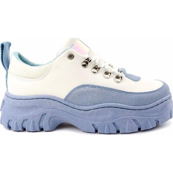 Biało niebieskie damskie obuwie sportowe PF5329