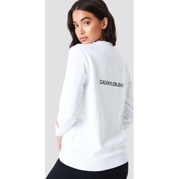 2825c28c9311e Calvin Klein Bluza Multi Logo - White - Bluzy bez kaptura damskie ...