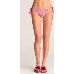 4913d4a12df097 Różowo-srebrny dół od bikini Twinset U&B w paski. Czerwone bikini damskie  Twinset U&B