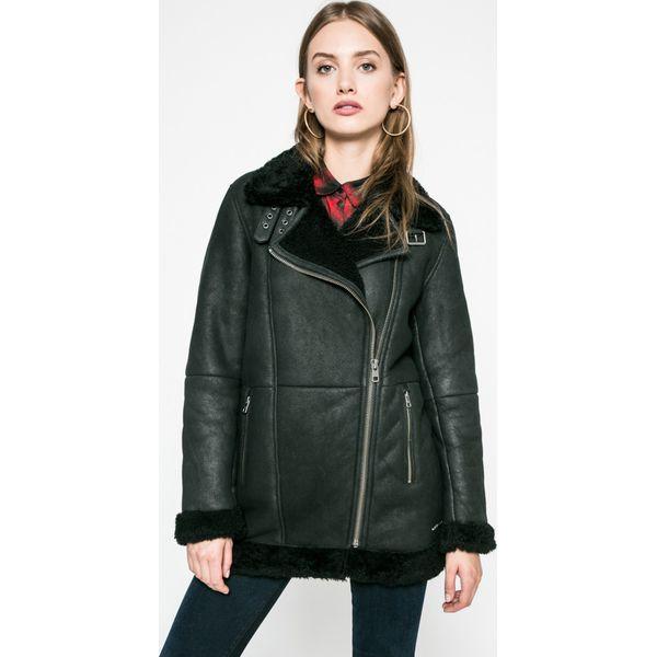 093e8b8b721be Calvin Klein Jeans - Kurtka skórzana - Czarne kurtki damskie marki ...