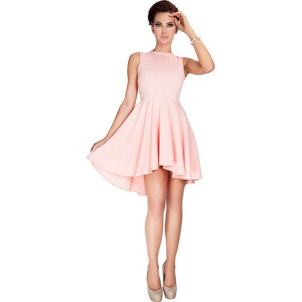 38d94f5622 33-1 lacosta - ekskluzywna sukienka z dłuższym tyłem - brzoskwinia ...