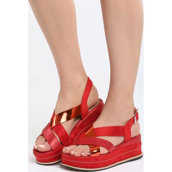 45fd2f5aca148 Czerwone Sandały Shiny Shamrock - Sandały damskie marki Born2be. Za ...