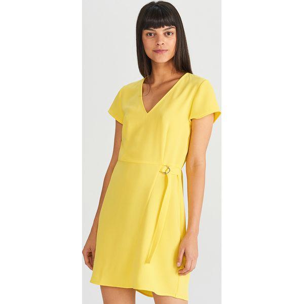 9a12a7494f Gładka sukienka - Żółty - Sukienki damskie marki Reserved. Za 119.99 ...