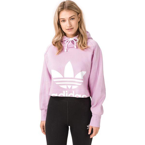 Bluza adidas damska fioletowo różowa